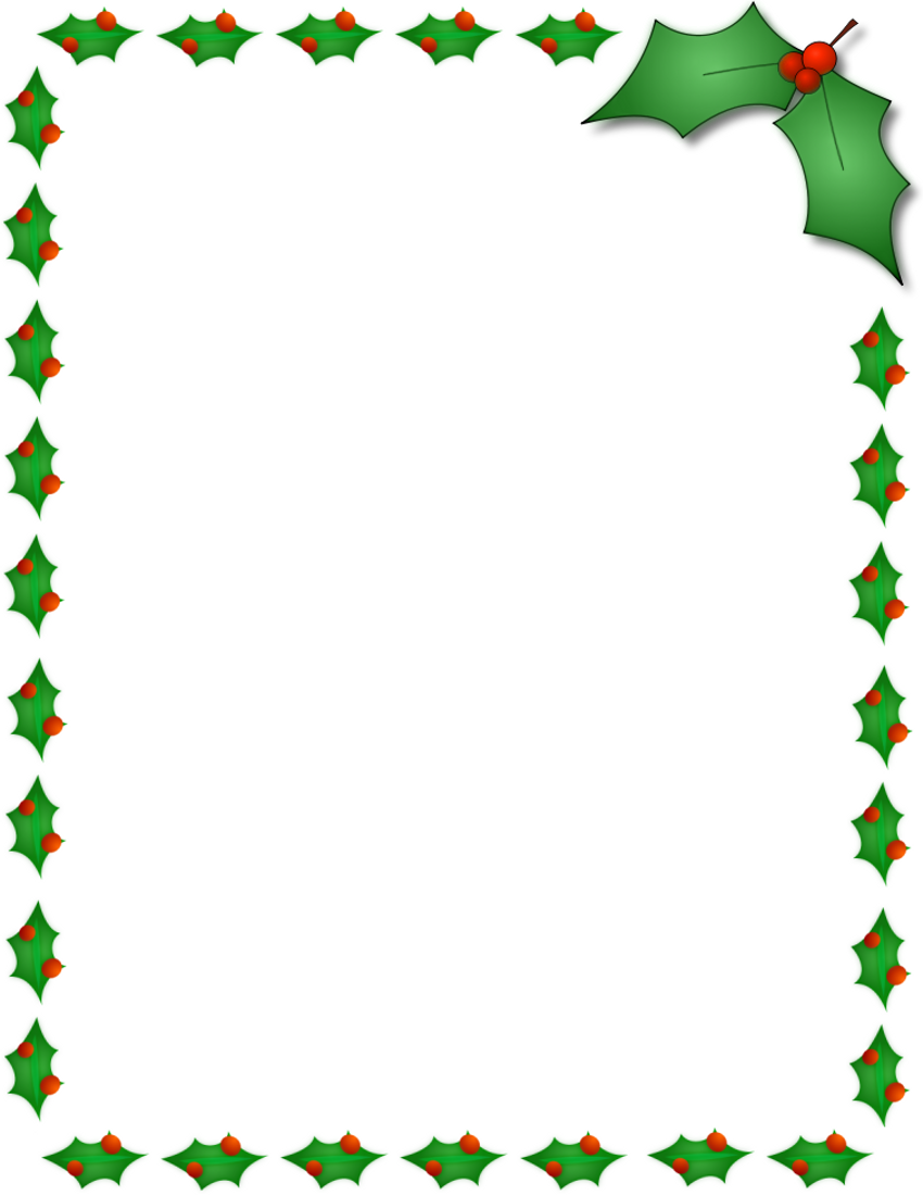 Christmas Holly Border Clip Art