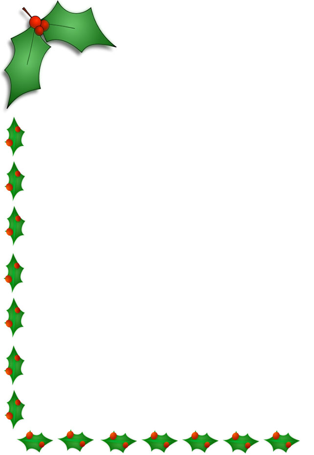 4 Images of Free Printable Christmas Borders Left Side