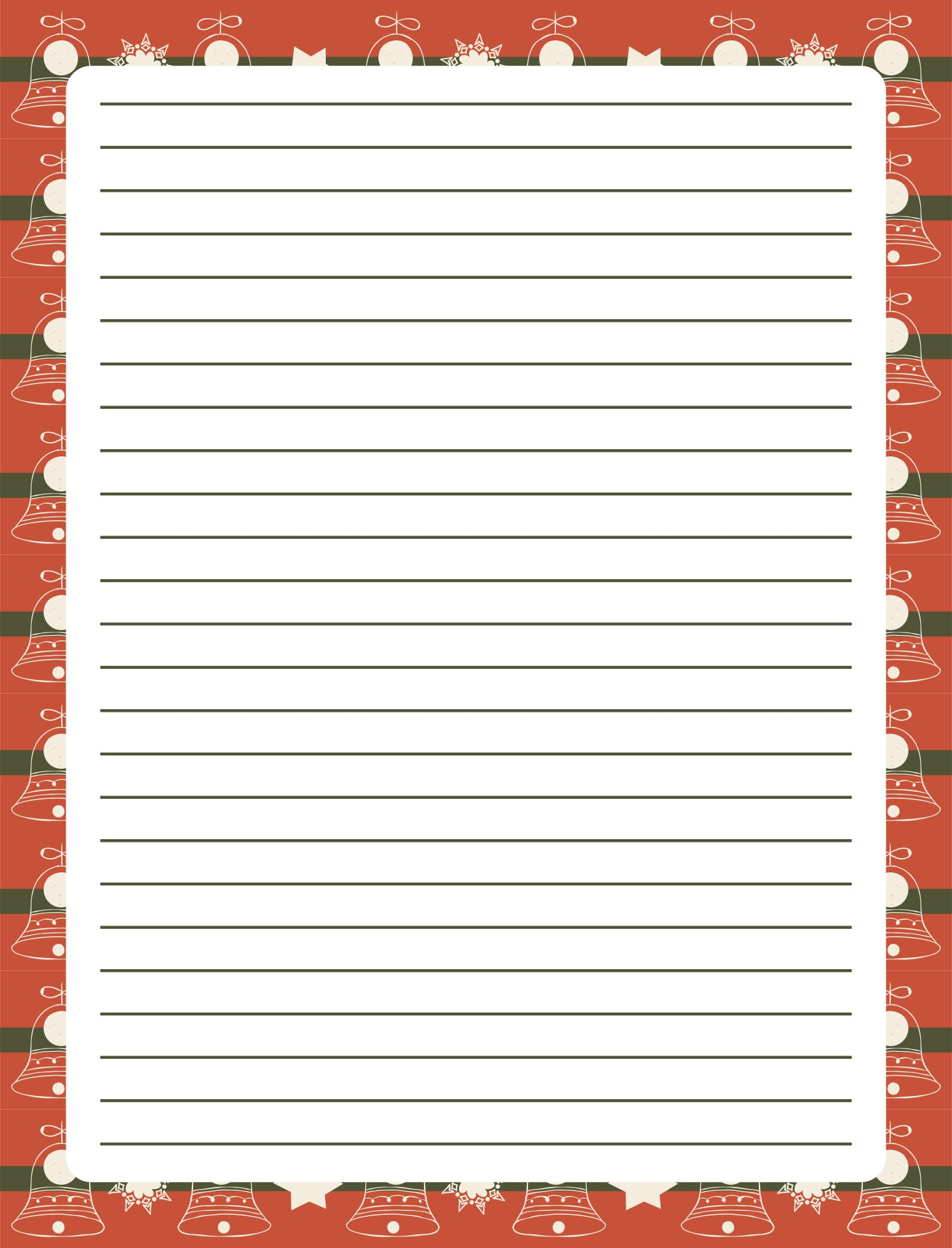 5 Images of Printable Christmas Border Writing Paper