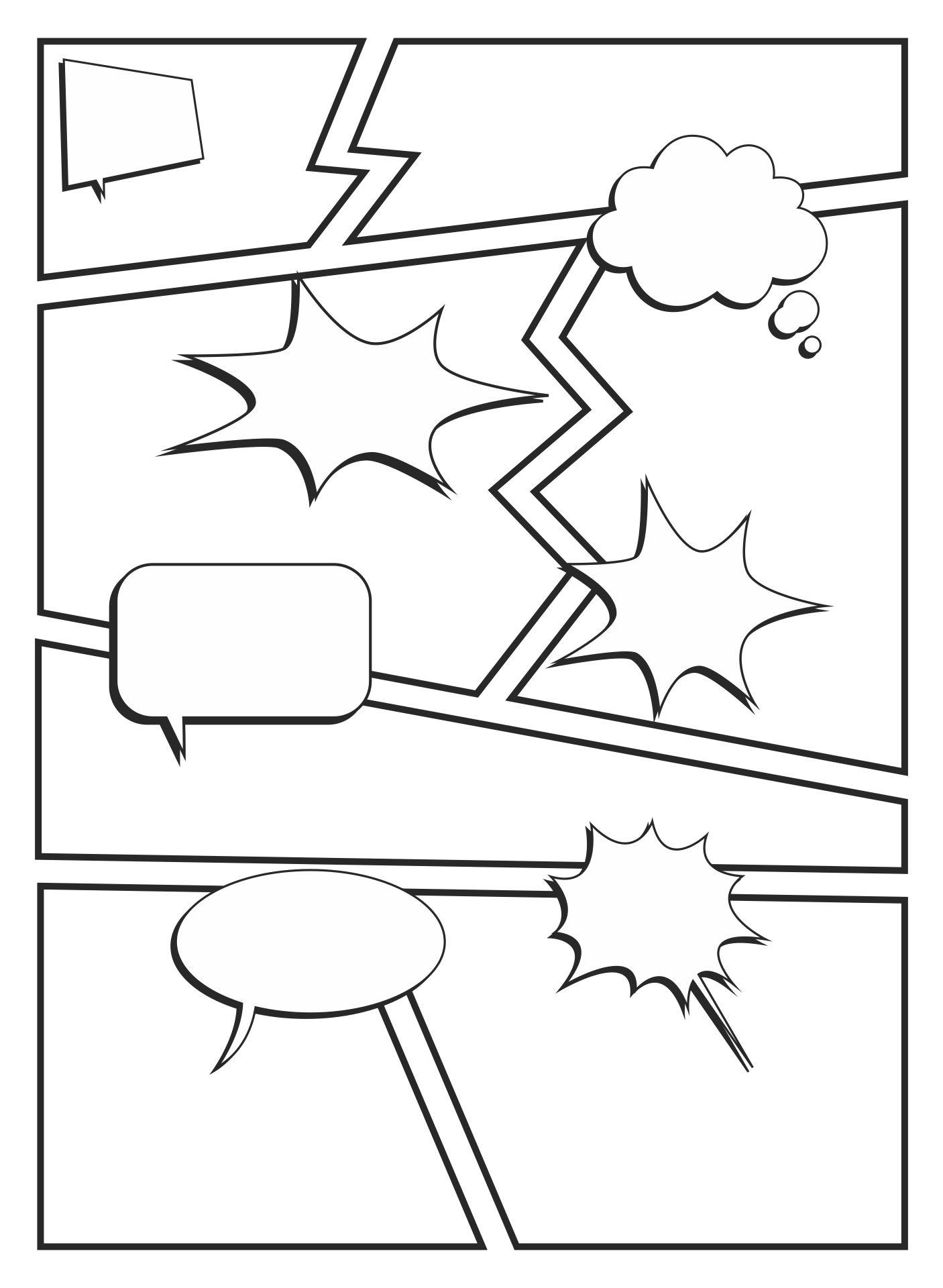 Comic Strip Template for Kids