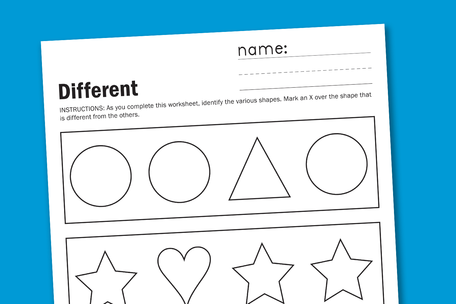5 Images of Free Toddler Shape Printables
