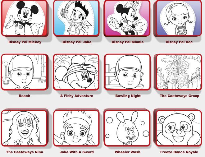 5 Images of Disney Jr Printable Activities