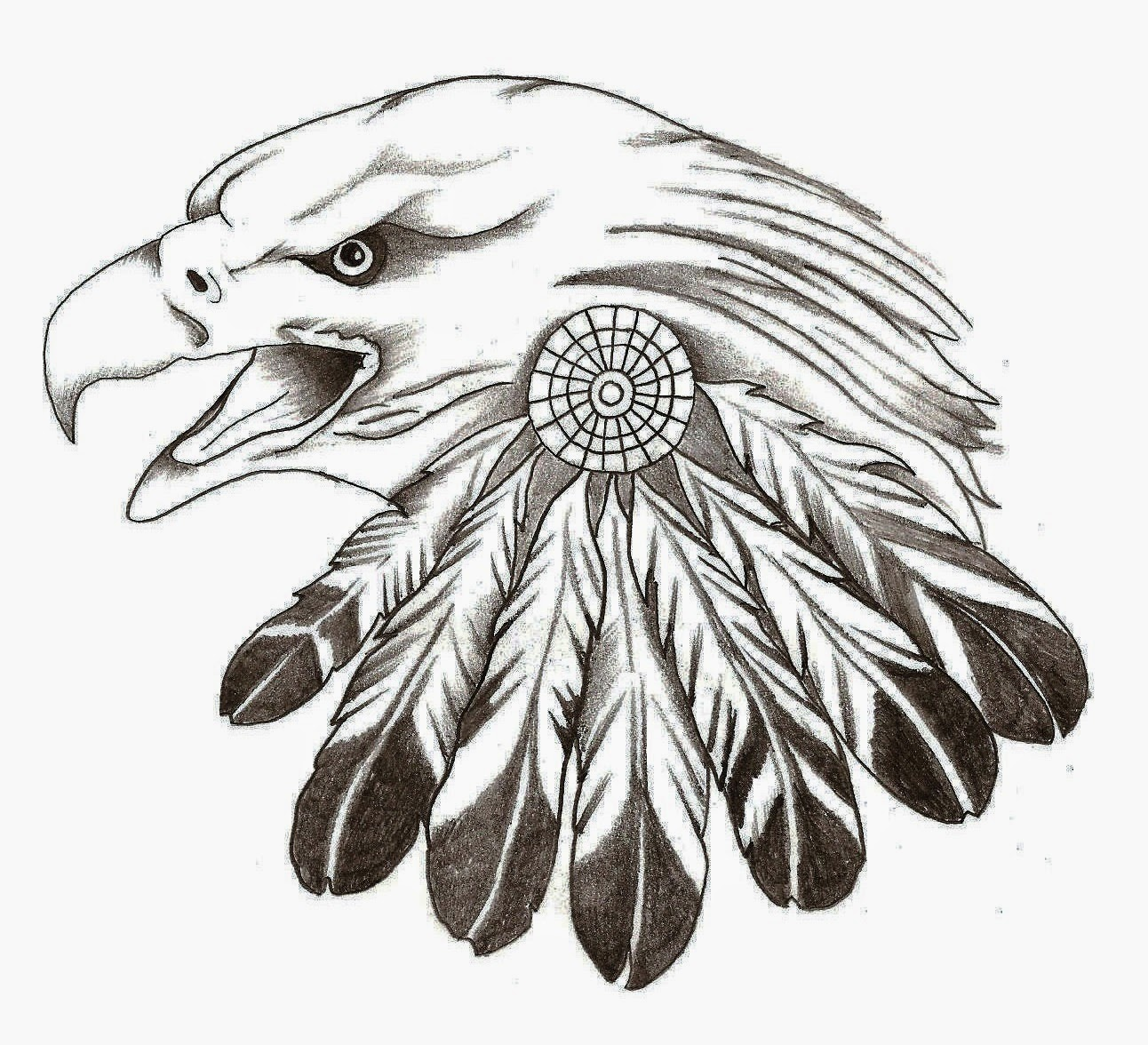 5 Images of Eagle Feather Stencil Printable