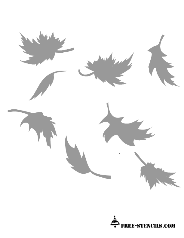 5 Images of Fall Leaf Stencils Printable