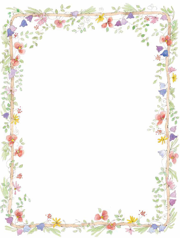 7 Images of Free Printable Floral Borders