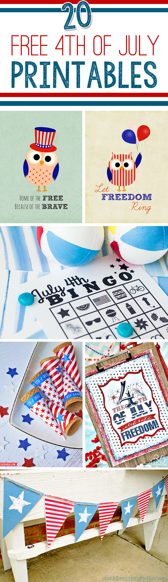 7 Images of Fourth Of July Party Printables