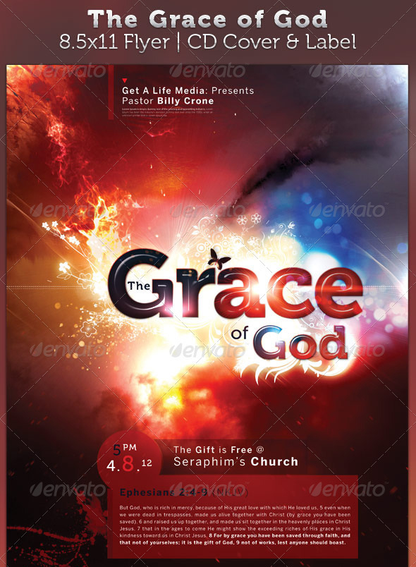 7 best images of free printable religious flyer designs for Church brochure templates free