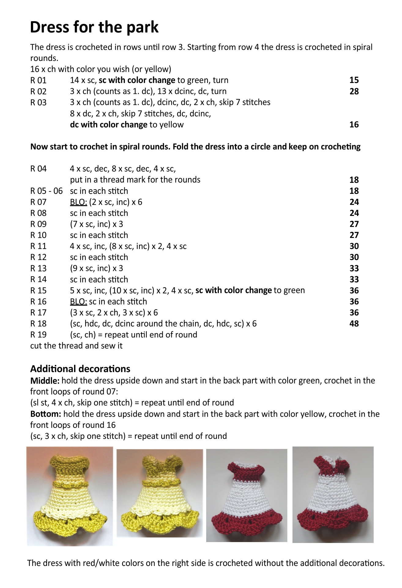 Crochet 18 Inch Doll Clothes Patterns