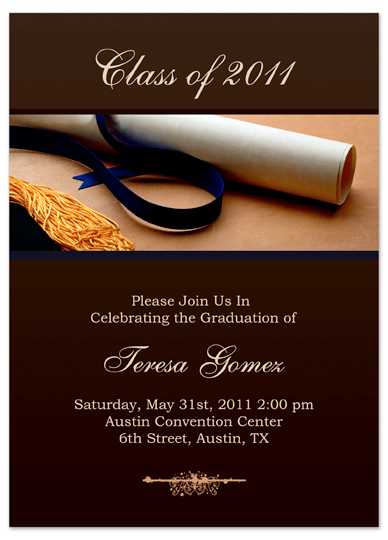 8 best images of graduation printable card template for Senior announcement templates free