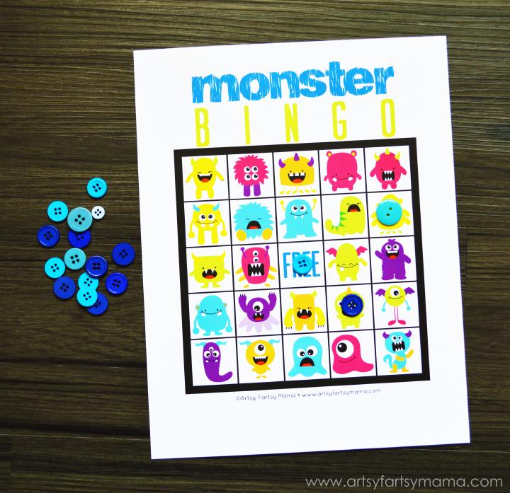 9 Images of Free Printable Monster Bingo