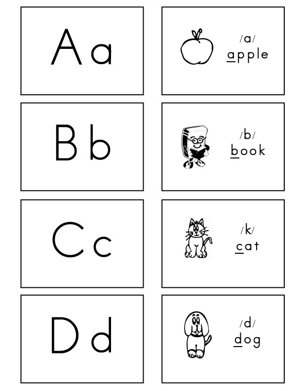Flash Cards Alphabet Letters 6 Best Images Of Printable Letter Cards For Kindergarten