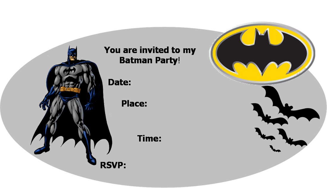 4 Images of Printable Batman Invitations