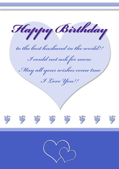 7 Images of Free Printable Happy Birthday Husband Cards