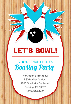 Free Printable Bowling Party Invitations Templates