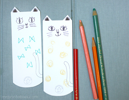 9 Images of Printable Cat Bookmarks