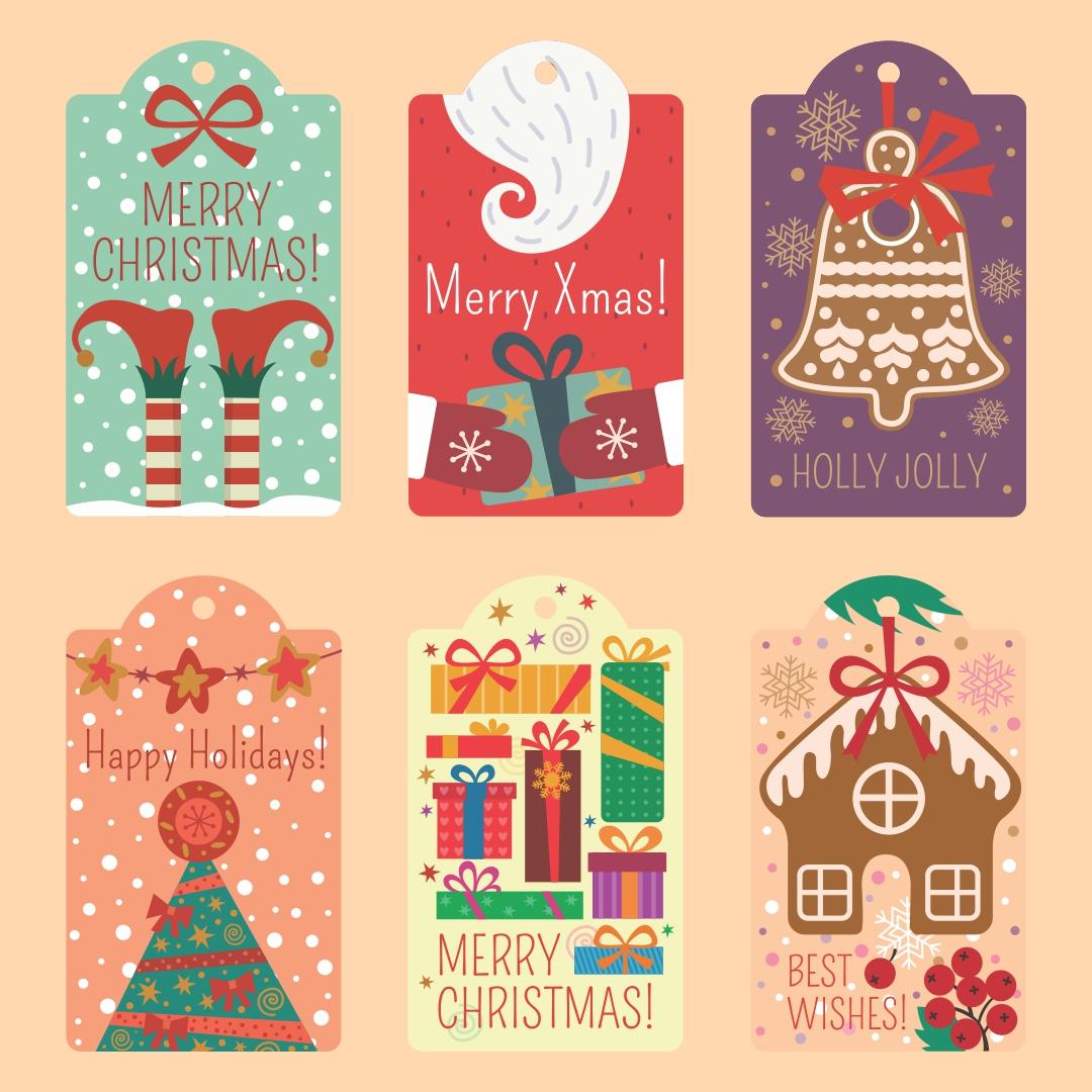 Printable Christmas Gift Tags for Kids