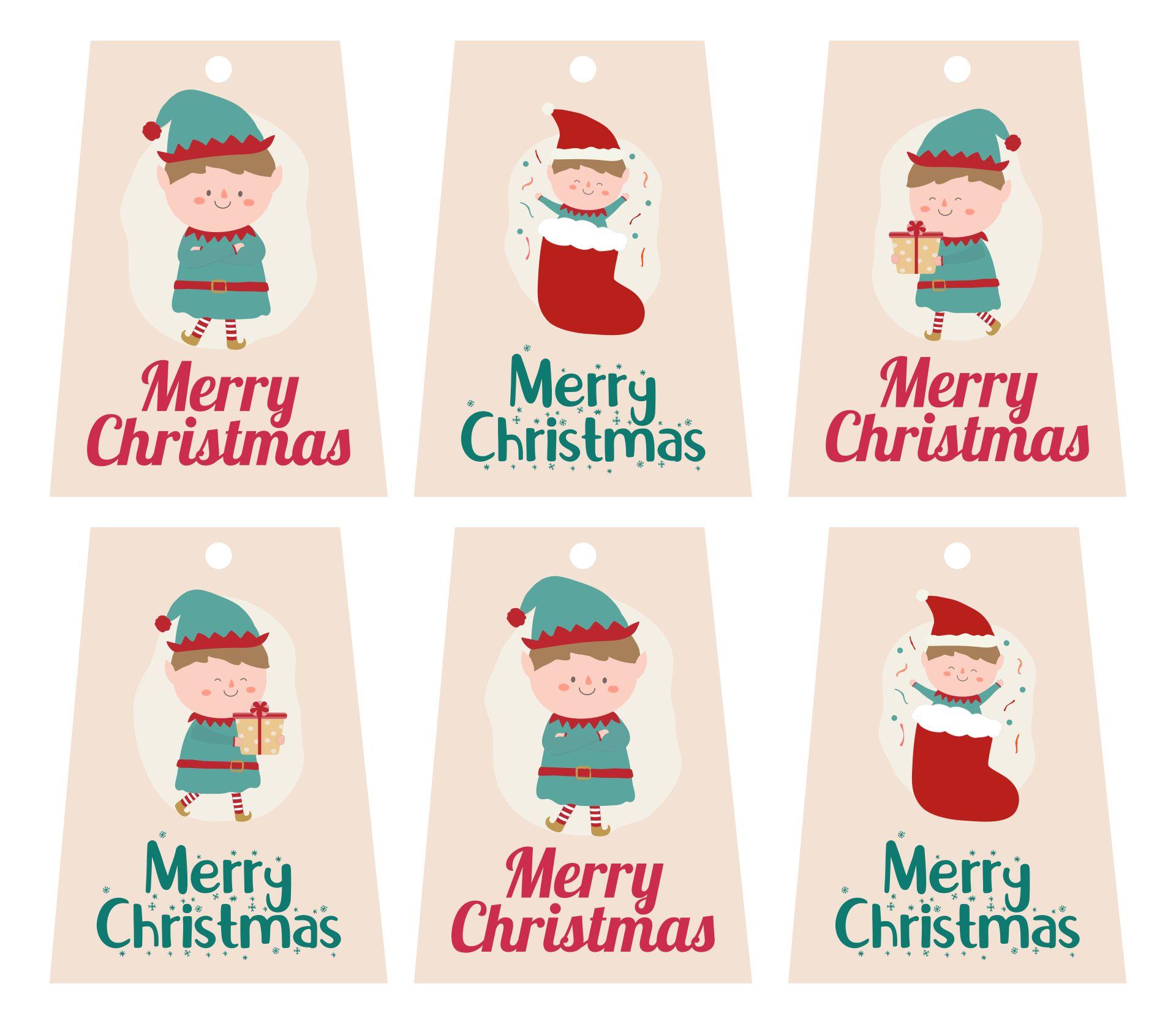 Printable Christmas Gift Tags Kids