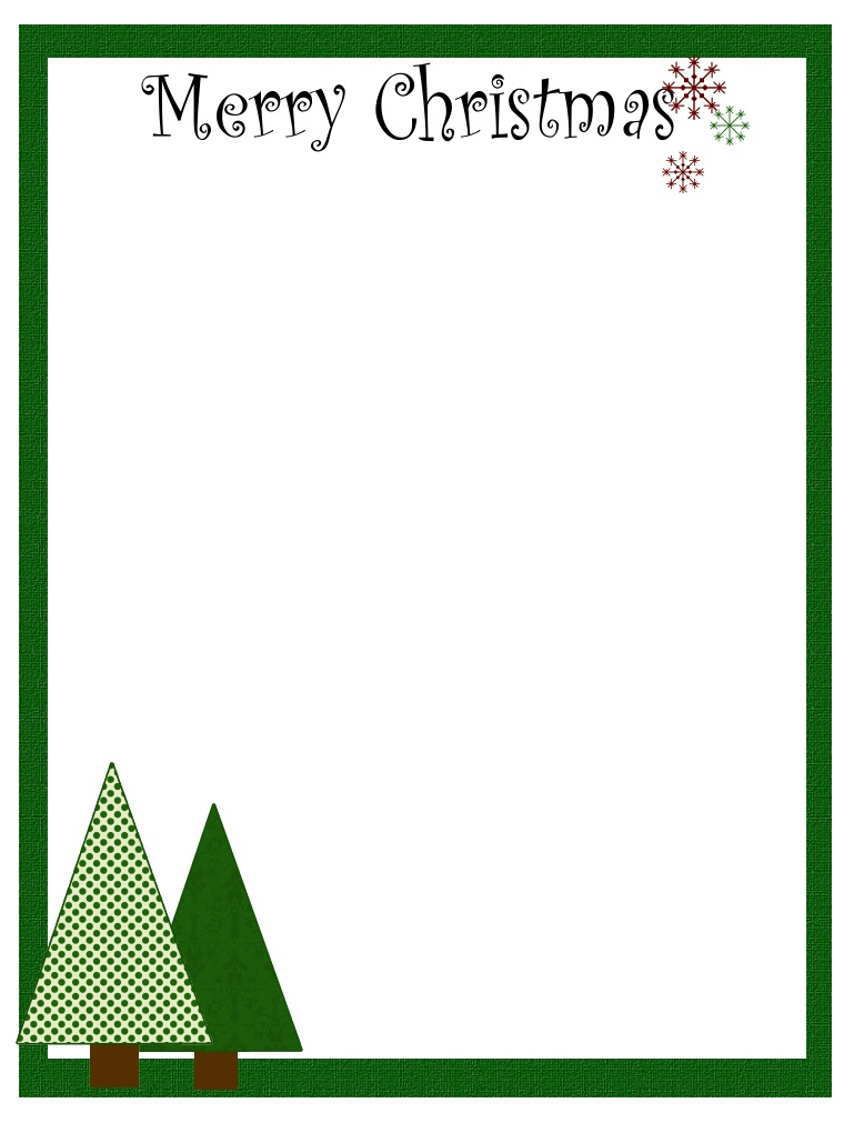 7 best images of free printable christmas stationary backgrounds free printable christmas for Christmas stationary border