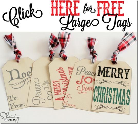 Free Printable Christmas Tags Large