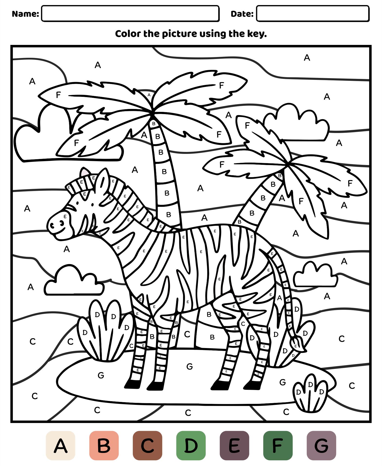 Number Names Worksheets free printable worksheet for preschool : 7 Best Images of Worksheets Color By Letter Printable - Free ...