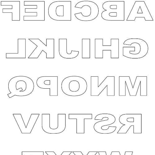 7 Images of Free Printable Letter Stencils Cut Out V