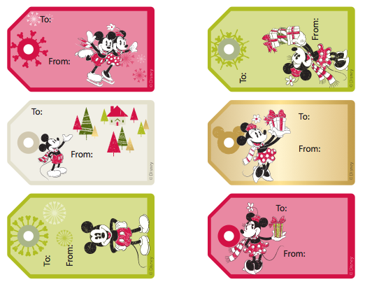 6 Images of Mickey Mouse Printable Gift Tags