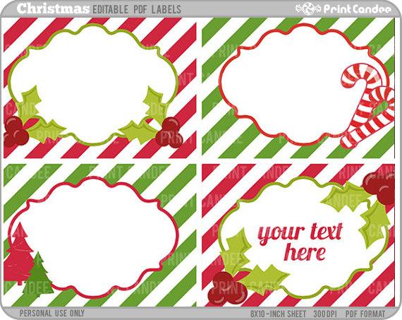 8 Images of Christmas Rectangle Printable