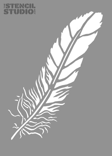 Free Printable Wall Design Stencils : Best images of eagle feather stencil printable