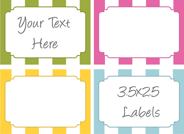 6 best images of design free printable label template word for Post it labels templates