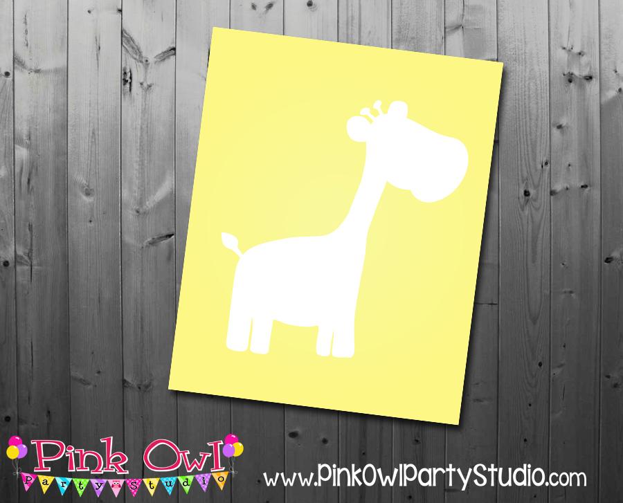 Free Printable Giraffe Nursery Wall Art