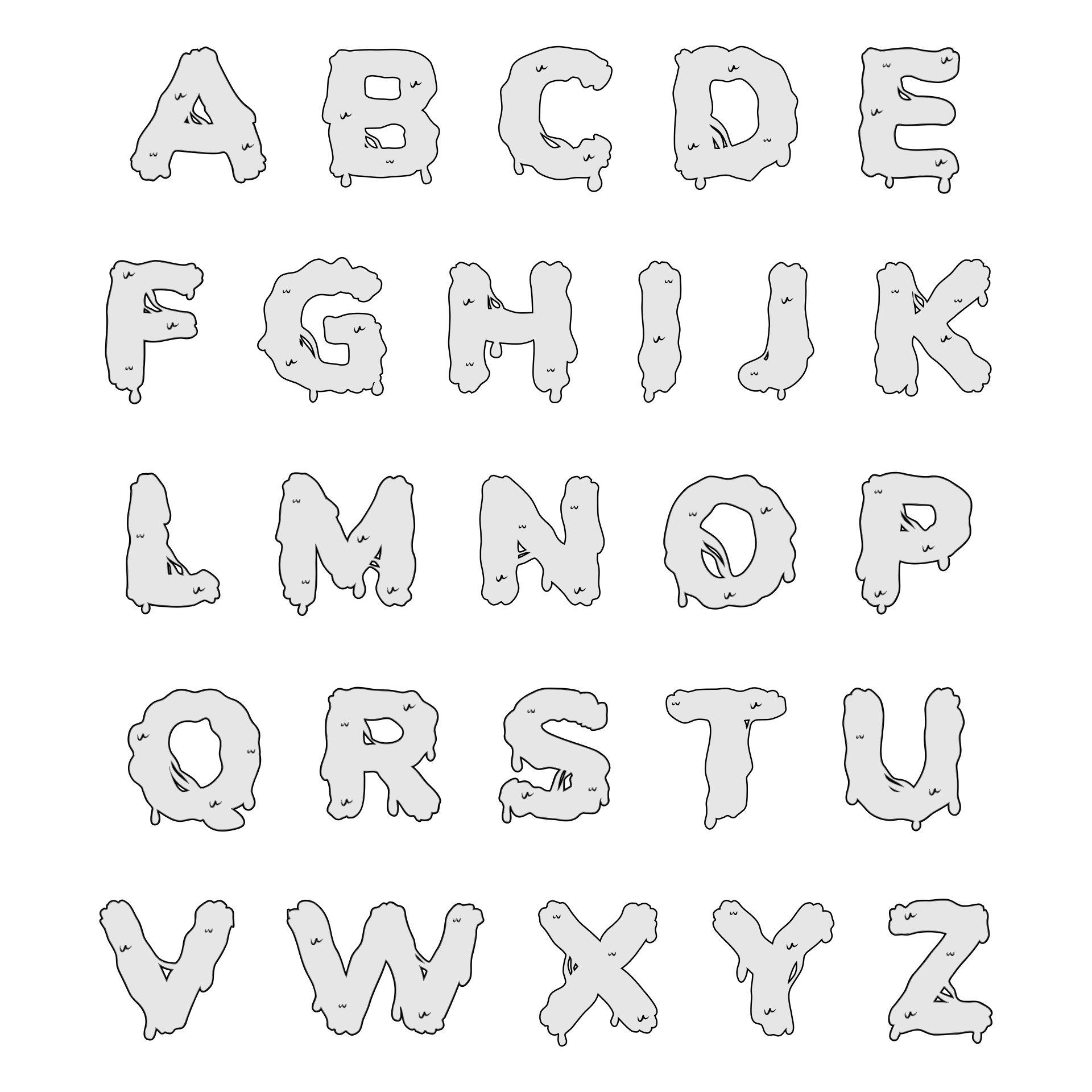 Printable Halloween Letter Stencils