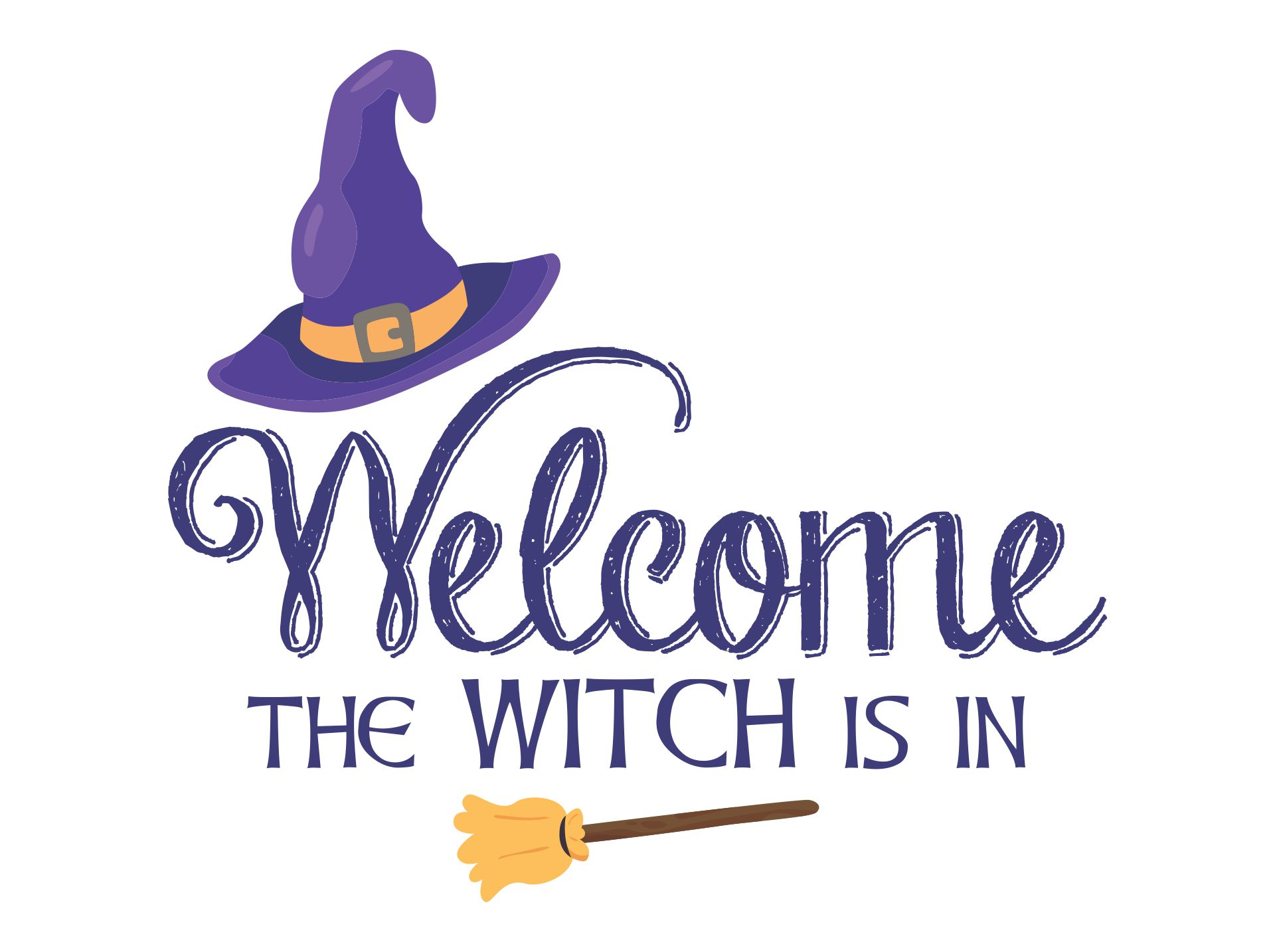 Printable Halloween Signs Witch