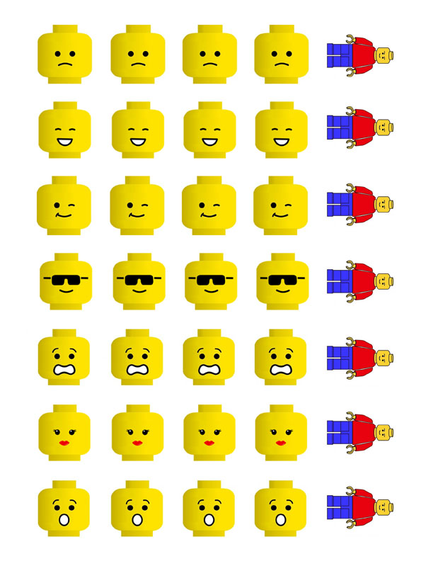 Printable LEGO Heads
