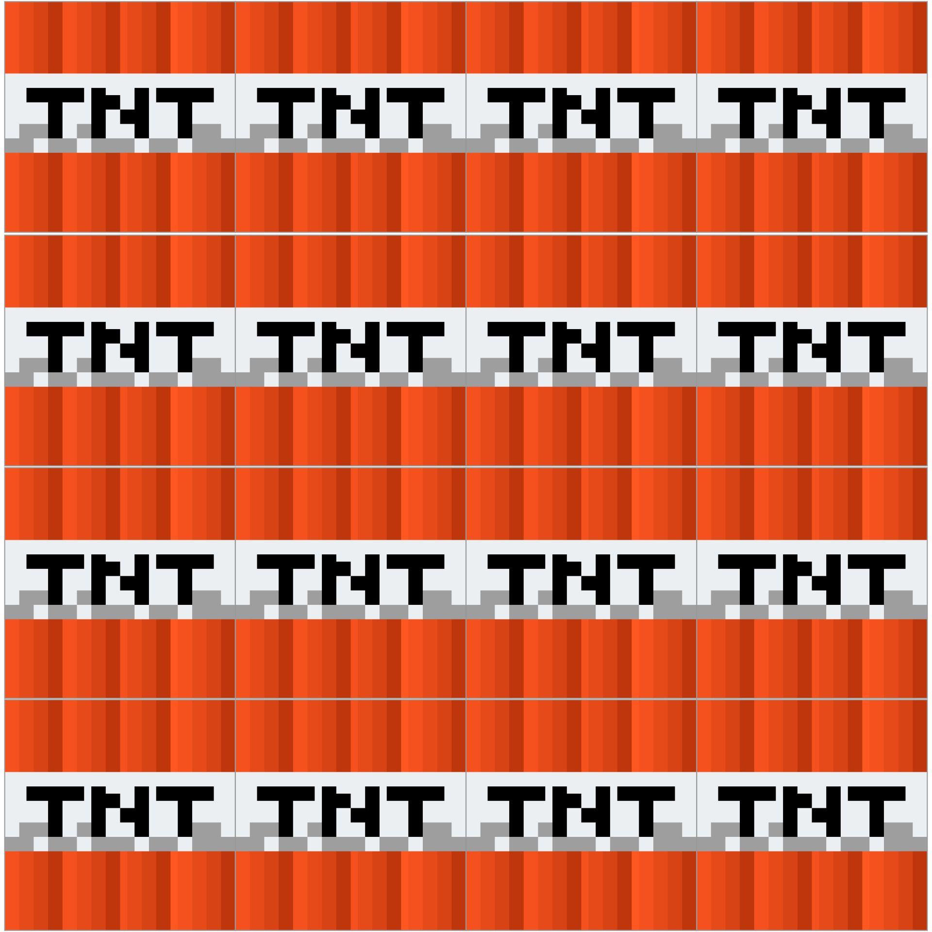 Printable Minecraft Templates TNT