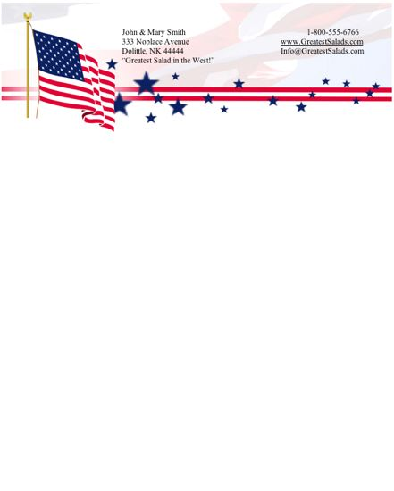 6 Images of Printable Patriotic Stationery