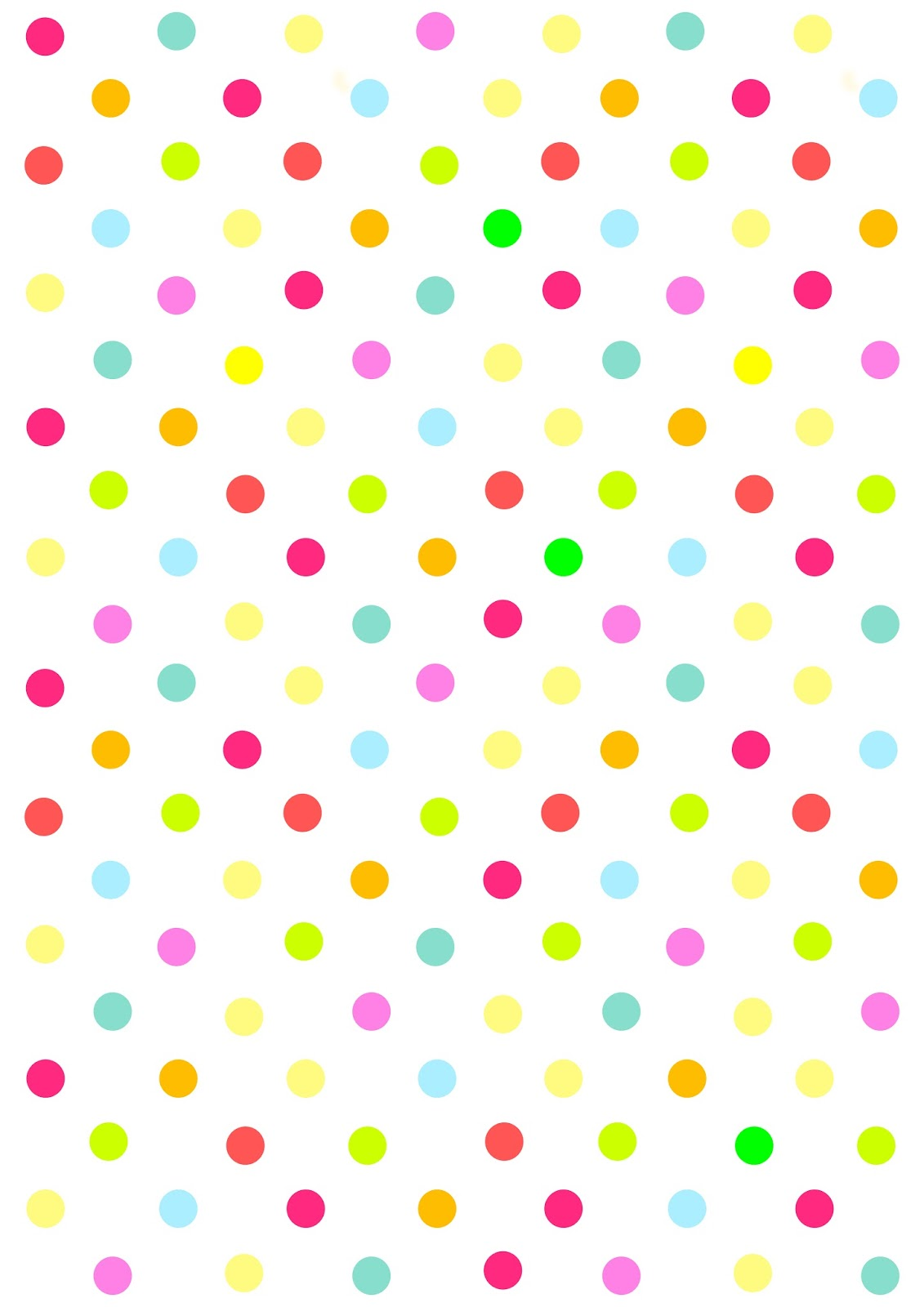 8 Images of Polka Dot Paper Printable
