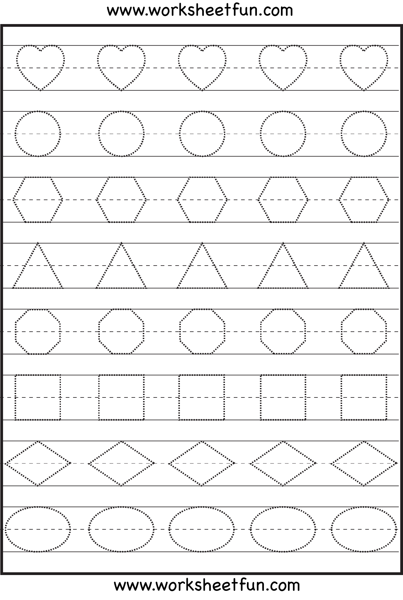 Worksheet Pattern Worksheets For Kindergarten Printable free printable pattern worksheets davezan 9 best images of for preschool free