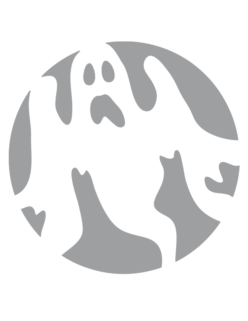 pumpkin templates free printable - 6 best images of ghost stencils printable halloween