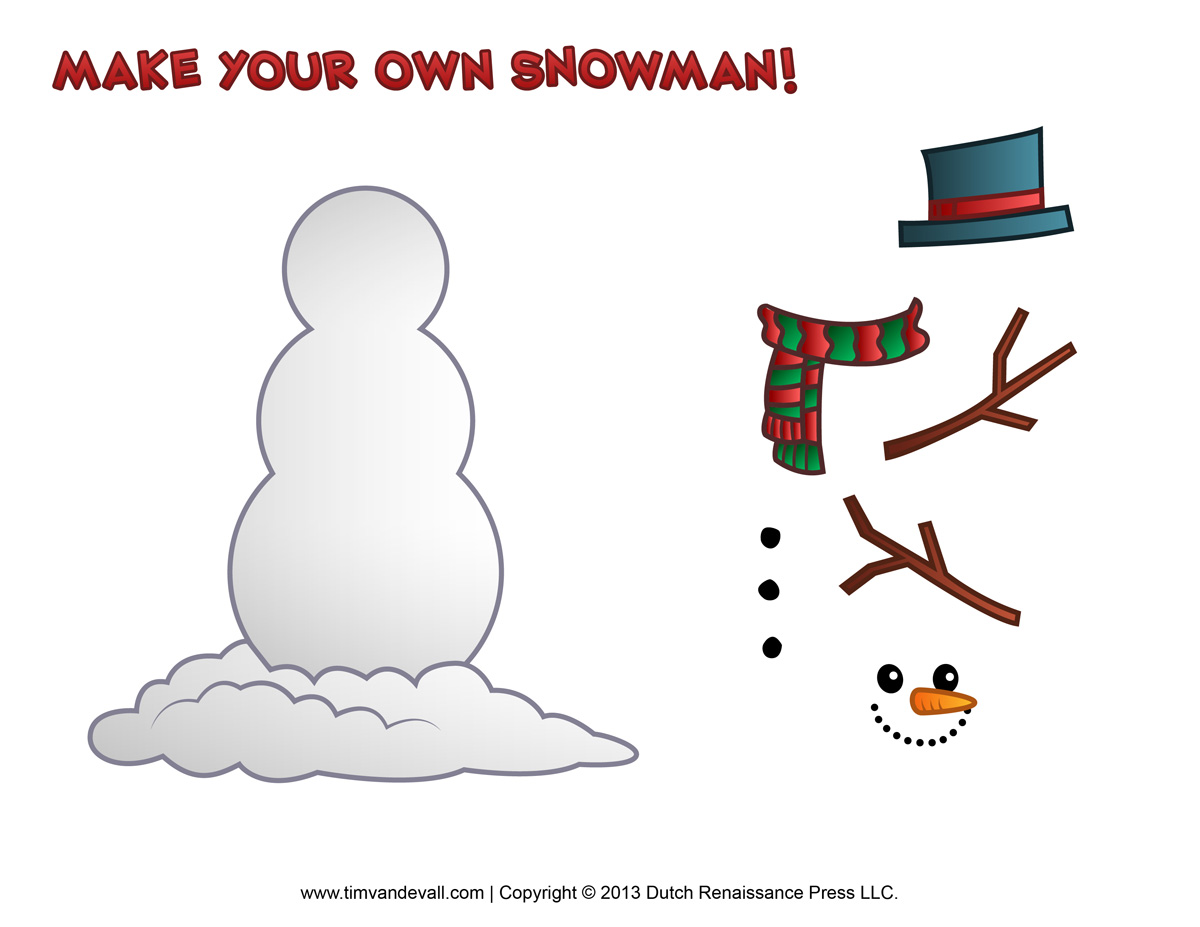 7 Images of Do It Yourself Snowman Printable