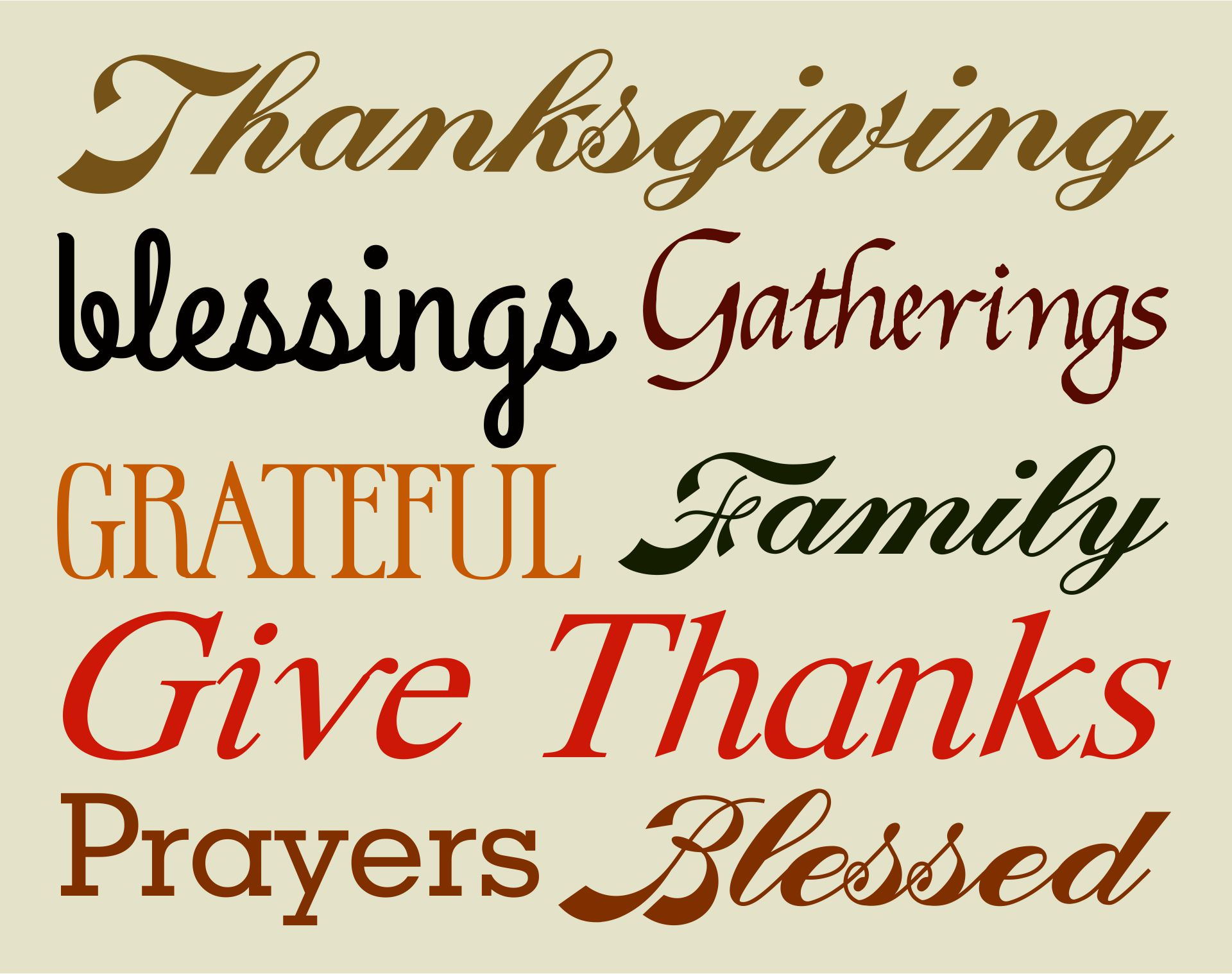 Printable Thanksgiving Art