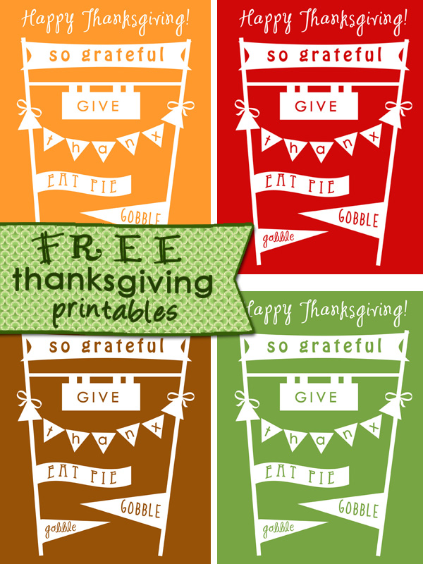 7 Images of Free Printable Thanksgiving Banners