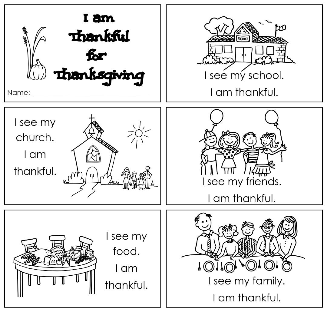 Printable Thanksgiving Books First Grade