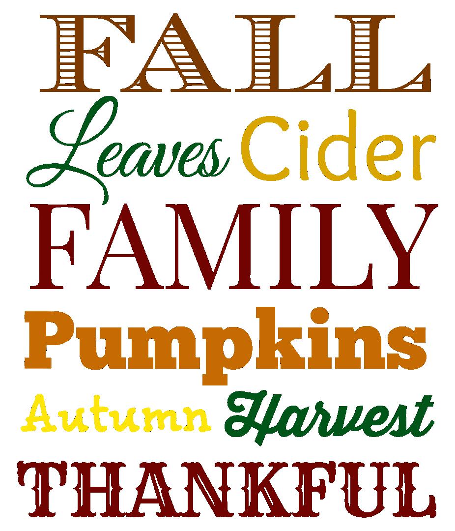 Free Printable Thanksgiving Subway Art