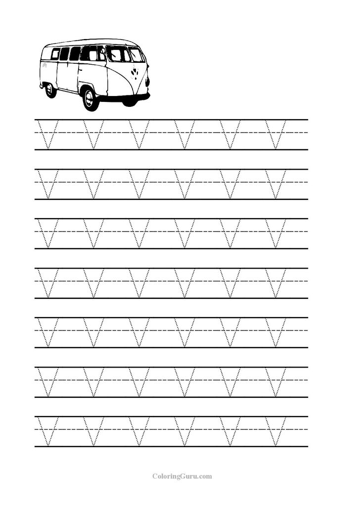 7 Images of Printable Letter V Worksheets Preschool