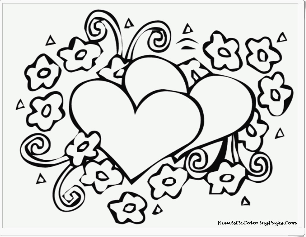 4 Images of Free Printable Valentine Coloring Pages