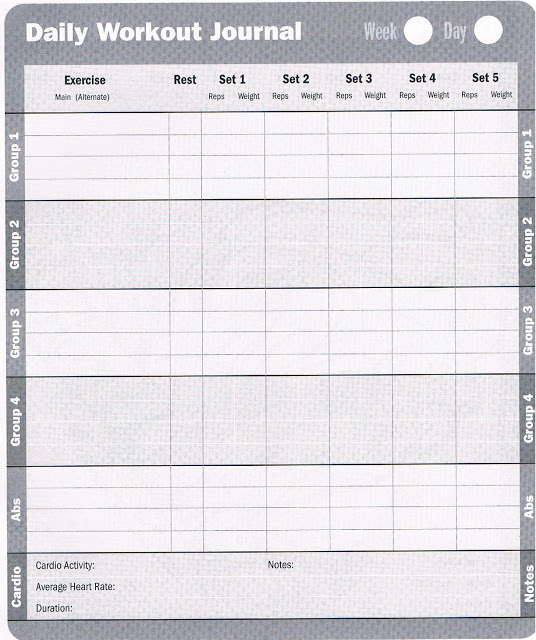 6 best images of daily workout log printable printable for Weight training log template
