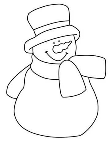 5 Images of Large Printable Snowman