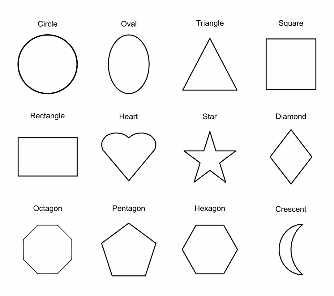 Unforgettable image for printable shapes template