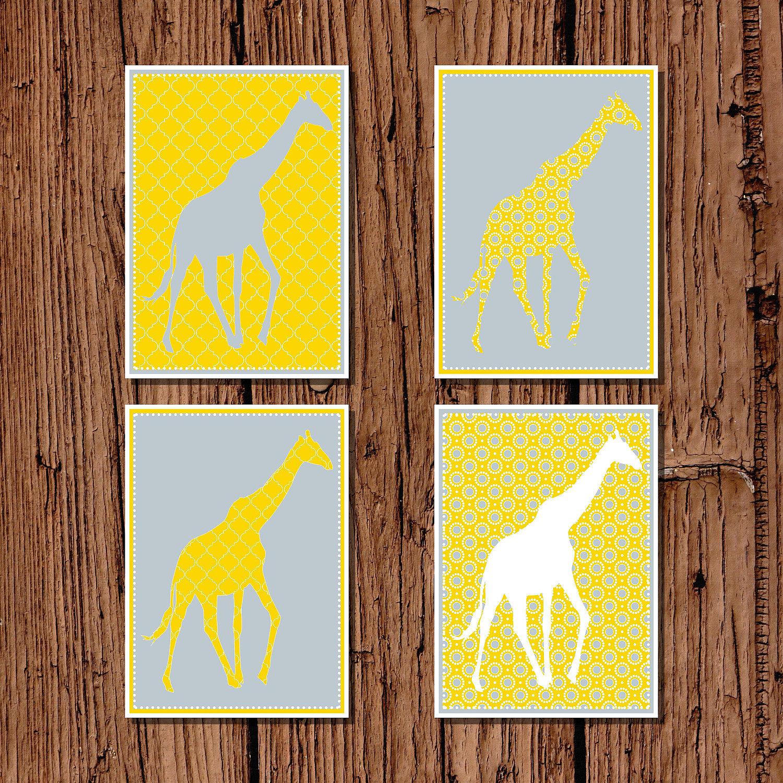Giraffe Nursery Art Silhouette