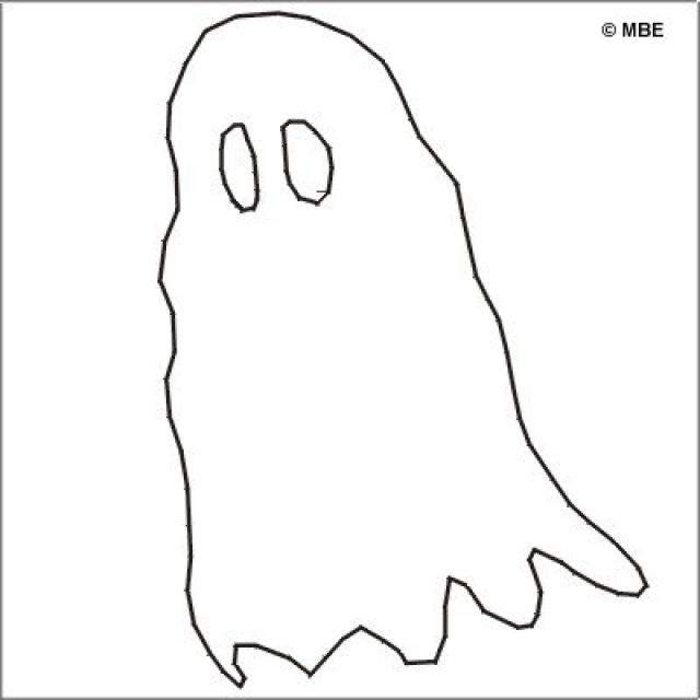 6 best images of ghost stencils printable halloween for Free halloween templates